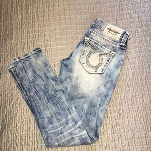 Big Star Jenae skinny acid wash jeans